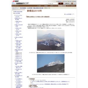新燃岳2018年災害と緊急調査