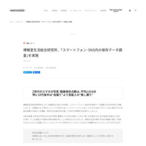 博報堂生活総合研究所、「スマートフォン・SNS内の保存データ調査」を実施