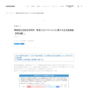 博報堂生活総合研究所「新型コロナウイルスに関する生活者調査【特別編】」