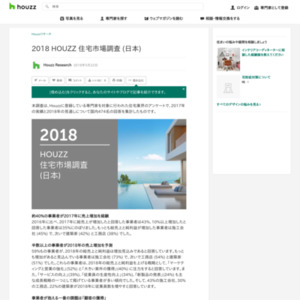 2018 HOUZZ 住宅市場調査 (日本)
