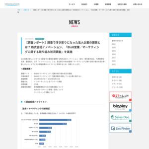 BtoB営業/マーケティングに関する取り組み状況調査