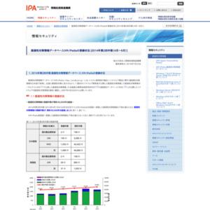 脆弱性対策情報データベースJVN iPediaの登録状況 [2014年第2四半期(4月~6月)]