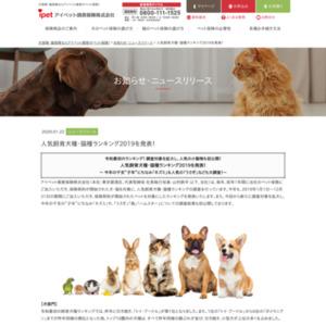 人気飼育犬種・猫種ランキング2019を発表!