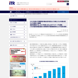 供形態別国内予算管理市場規模推移および予測