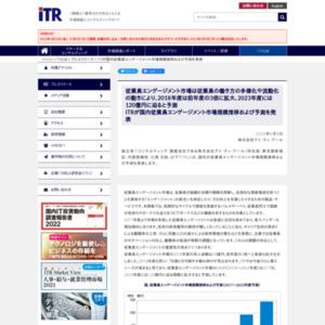 ITRが国内従業員エンゲージメント市場規模推移および予測を発表