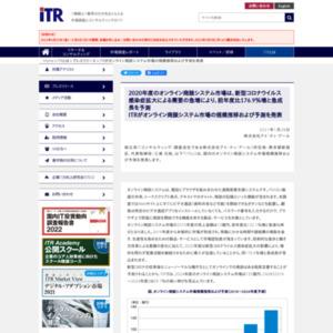 ITRがオンライン商談システム市場の規模推移および予測を発表