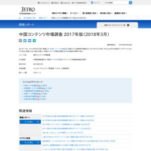 中国コンテンツ市場調査 2017年版(2018年3月)