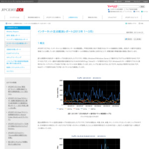 インターネット定点観測レポート(2013年 1~3月)