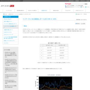 インターネット定点観測レポート(2013年 4~6月)