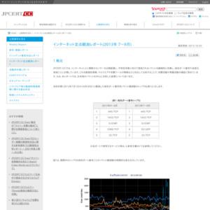 インターネット定点観測レポート(2013年 7~9月)