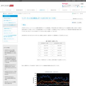 インターネット定点観測レポート(2013年 10~12月)