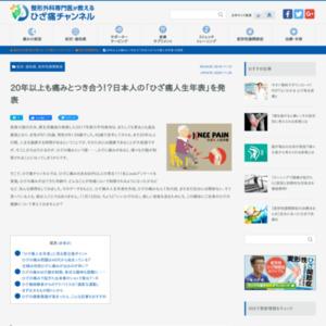 日本のひざ痛事情に関するwebアンケート