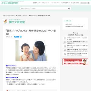 「園児ママのプロフィル・興味・関心事」(2017年/全国)