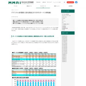 ITデジタル家電購入意向調査(2016年冬ボーナス商戦編)