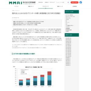 国内法人における3Dプリンターの導入実態調査(2019年5月調査)