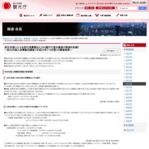 訪日外国人消費動向調査(平成25年7-9月期)の調査