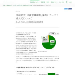 日本財団「18歳意識調査」第7回テーマ:成人式について