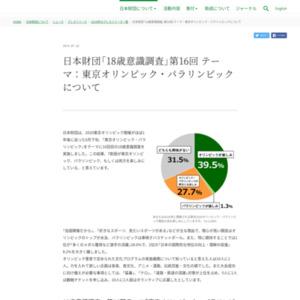 日本財団「18歳意識調査」第16回 テーマ:東京オリンピック・パラリンピックについて