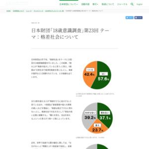 日本財団「18歳意識調査」第23回 テーマ:格差社会について