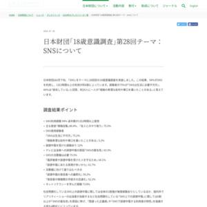 日本財団「18歳意識調査」第28回テーマ:SNSについて
