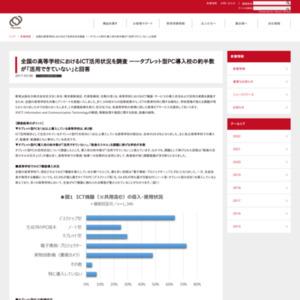 全国の高等学校におけるICT活用状況を調査