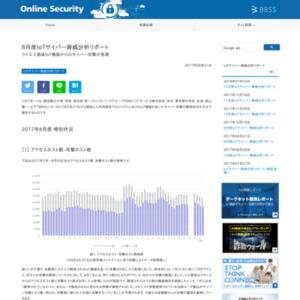 8月度IoTサイバー脅威分析リポート