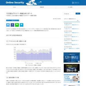 10月度IoTサイバー脅威分析リポート