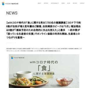 withコロナ時代の「食」に関する男女7,700名の意識調査