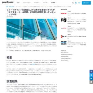 日本の主要銀行の72%が「なりすましメール詐欺」に有効な対策を取っていないことが判明