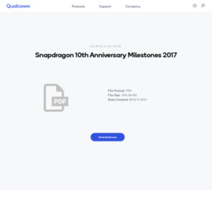 Snapdragon 10th Anniversary Milestones 2017