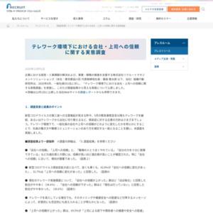 テレワーク環境下における会社・上司への信頼に関する実態調査