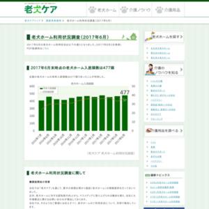 老犬ホーム利用状況調査(2017年6月)
