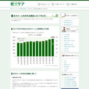 老犬ホーム利用状況調査(2017年8月)