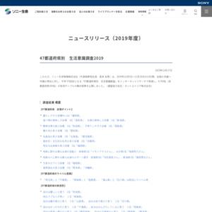 47都道府県別 生活意識調査2019