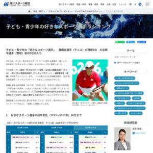 子ども・青少年の「好きなスポーツ選手」 錦織圭選手(テニス)が連続1位 大谷翔平選手(野球)初の5位内入り