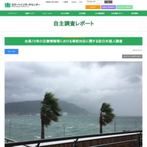 台風19号の災害情報等における事前対応に関する訪日外国人調査