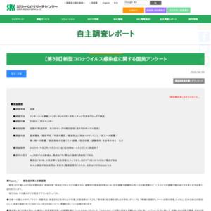 【第3回】新型コロナウイルス感染症に関する国民アンケート