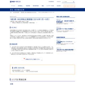 1都3県・本社移転企業調査(2016年1月~9月)