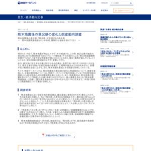 熊本地震後の景況感の変化と倒産動向調査