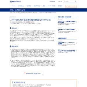人手不足に対する企業の動向調査(2017年7月)