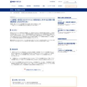 新型コロナウイルス感染症に対する企業の意識調査(2020年5月)