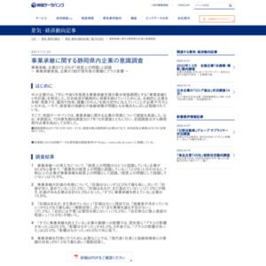 事業承継に関する静岡県内企業の意識調査