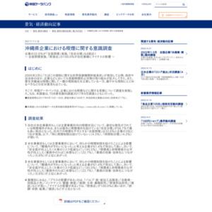 沖縄県企業における喫煙に関する意識調査