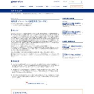 鳥取県 メーンバンク実態調査(2017年)