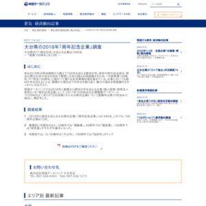 大分県の2018年「周年記念企業」調査