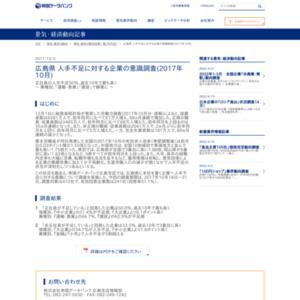 広島県 人手不足に対する企業の意識調査(2017年10月)