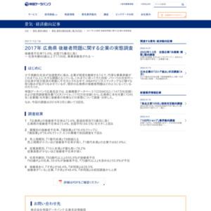 2017年 広島県 後継者問題に関する企業の実態調査