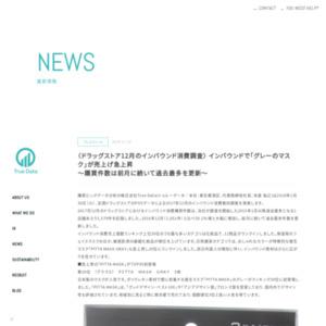 ドラッグストア12月のインバウンド消費調査