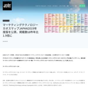 マーケティングテクノロジーカオスマップJAPAN2019年度版を公表