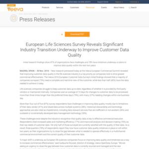 Veeva 2016 European Customer Data Survey